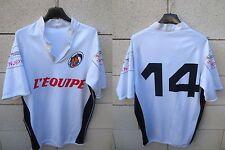 Maillot rugby FRANCE PUB L'EQUIPE porté n°14 XL
