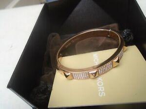 Fine looking Michael Kors gold plated diamante bracelet with original box  LOOK