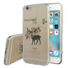 Carcasa Funda De Silicona TPU Ultra Fina Tema Navidad Ciervo para Apple iPhone 6