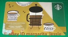 """STARBUCKS CANADA SERIES GIFT CARD """"COFFEE PRESS 2017"""" NEW NO VALUE HOLIDAY #6145"""