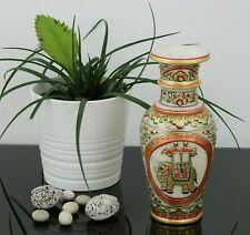 "Hand Painted White MARBLE FLOWER VASE 9"" Large Gold Kundan Work Pot Handmade UK"