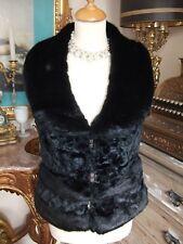 Ladies Black faux fur gothic style gillet size L/XL by New DMJ Fashion