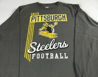 Pittsburgh Steelers Long Sleeve T-Shirt Adult Football Retro Kicker Logo NFL Tee