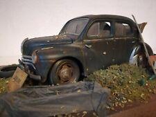 Renault 4CV Umbau Diorama Scheunenfund 1:16 Oldtimer 1:18
