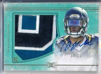 T.J. YELDON - 2015 Definitive Nameplate Rookie Patch AUTO /25 - Jaguars RC