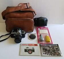 Vintage Pentax ME Super 35mm Camera Coast Tan Camera Bag Lens Cleaner Manuals