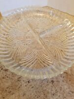 Vintage Glass Divided In 3 Dish 7 1/8""