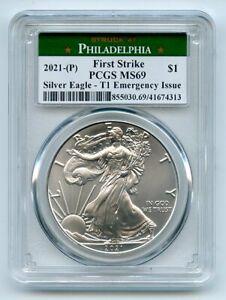 2021 (P) $1 Emergency Issue American Silver Eagle Dollar PCGS MS69 First Strike