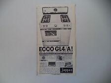 advertising Pubblicità 1962 CUCINA ZOPPAS GL4 A