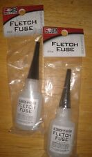2 Bottles Bohning 301025 Fletch Fuse Instant Glue 1/2 oz Bottles Brand New