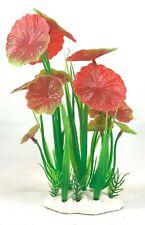 Artificial Red Lily Aquarium Bush Plant - 9 inch Bush - Fast Shipping