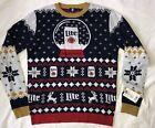 Miller Light Fun Party Ugly Winter Christmas Sweater. Unisex Medium