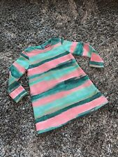 WORN ONCE - OILILY PINK & GREEN STRIPE DRESS - 3 YEARS