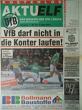 Programm 2000/01 VfB Lübeck - Fortuna Köln
