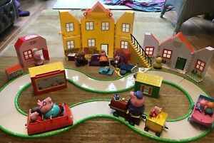 Large Peppa Pig Bundle including House Car Train Track and Figures