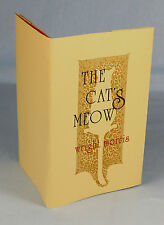1975, Wright Morris, The Cat's Meow, ltd ed [of 325], black sparrow press