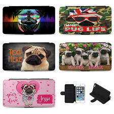 Personalised Girls iPhone Case Pug Flip Phone Cover Birthday Gift Dog Cute Pet