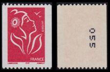 2005 FRANCE N°3743** Roulette Marianne de Lamouche Num Noir à Droite Verso MNH