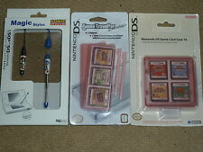 NINTENDO DS LITE 4 x OFFICIAL STYLUS PEN + 3 GAME CARTRIDGE CASES BRAND NEW Lot