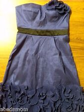 MAX AND CLEO Violet/ Dark Blue PARTY DRESS w/ Spaghetti Straps Size 4 MSRP $178