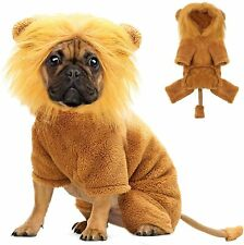 Dog Lion Costume for Dogs Clothes Pet Halloween Cosplay Dress Party Dressing up