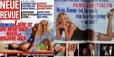 Neue Revue 92/2 Britt Ekland,Patrizia D'Arcangelo,Kirsten Imrie,Kathleen Turner