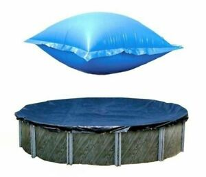 Swimline Round Above Ground Winter Pool Cover with Closing Air Pillow