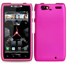 For Motorola DROID RAZR MAXX Rubberized HARD Case Snap On Phone Cover Rose Pink