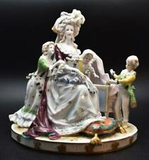 Fine Large Antique Ackermann & Fritze Marie Antoinette Figure Group - Volkstedt