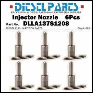 6x Injector Nozzle DLLA137S1208 for NEW HOLLAND Tractor TL100 L95 F100 F130 F140
