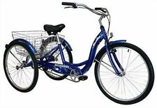 SCHWINN 26 Meridian 3-Wheel Trike Adult Comfort Cruiser Bike Tricycle BLUE NEW!