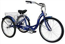 SCHWINN 26 Meridian 3-Wheel Trike Adult Comfort Cruiser Bike Tricycle BLUE NEW!