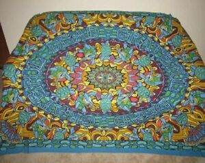 New Psychedelic Grateful Dead Terrapin Dancing Turtles Large Wall Tapestry 90X60