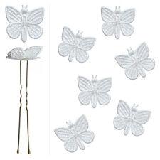 6 épingles pics cheveux chignon mariage mariée danse papillon dentelle blanche
