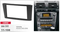 CARAV 11-108 2Din Marco Adaptador Kit de Radio para TOYOTA Avensis 2002-2008