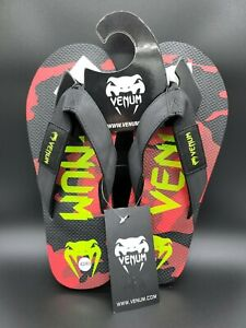 Venum Flip-Flop Sandals - Black/Red/Yellow NWT 42/43 🔥🔥