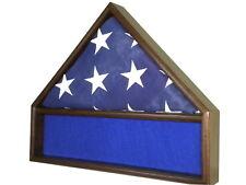 5 X 9 BLACK WALNUT FLAG & MEMORABILIA MILITARY DISPLAY CASE SHADOW BOX FUNERAL