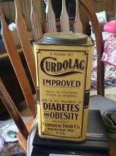 CURDOLAC OBESITY DIABETES TREATMENT TIN ADVERTISING CAN WAUKESHA WISCONSIN WIS