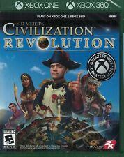 De Sid Meier Civilisation Revolution Xbox 360 Xbox un XB1 XB360 Tout Neuf