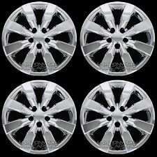"4 New CHROME 2009-2016 Corolla 16"" Hub Caps Full Wheel Covers fit Steel Rims"