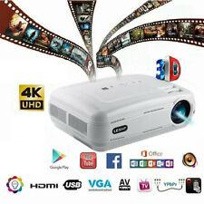 12000 Lumen Heimkino Projektor Beamer HDMI Home Theater Full HD 1080P Media NEU!