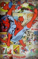 Marvel Comics Spider-Man retro poster of Spiderman in flight,size 24 x 36 inches