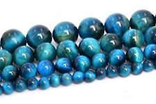Natural Blue Green Tiger Eye Beads Grade AAA Round Loose Beads 4/6/8/10MM