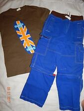 EUC Boys Mini Boden  size 9/10 SKATER Shirt Pants Shorts Zipper OFF euc nice RAR