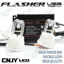 FLASHER US2-12V BLANC FLASHING CAR AMÉRICAIN-OPTIQUE  PHARE-PACE CAR HID DOUBLE