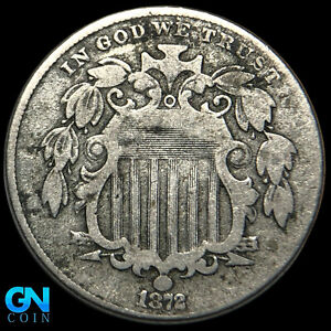 1872 Shield Nickel  --  MAKE US AN OFFER!  #K8641