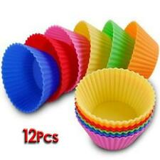 Silicone Cake Muffin Cupcake Bakeware Bake Cup Mold Mould Soft 12 Pcs Us Stock