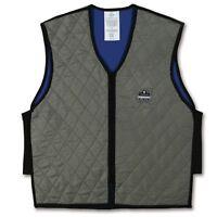 Ergodyne Chill-Its 6665 Evaporative Cooling Vest, Gray, XL, 12545, New
