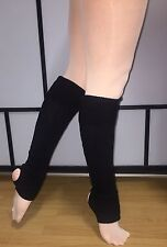 Leg warmers - Childs Size -40cm - Black . Same Day Priority Post