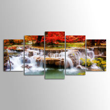 Without Frame Decor Canvas 5 Panels Canvas Prints Waterfall  photo Wall Art